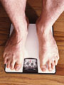 Man standing on scales